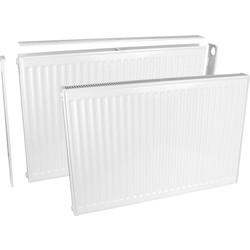 Qual-Rad Type 21 Double-Panel Single Convector Radiator 500 x 700mm 2670Btu - 83218 - from Toolstation