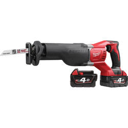 Milwaukee Milwaukee M18BSX-402C 18V Li-Ion Cordless Sawzall Reciprocating Saw 2 x 4.0Ah - 83275 - from Toolstation