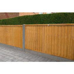 Forest Garden Closeboard Panel - 4 Pack 91cm(h)x183cm(w)