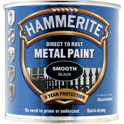 Hammerite Hammerite Metal Paint Smooth Black 250ml - 83379 - from Toolstation
