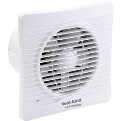 Vent Axia Vent-Axia 150mm Lo-Carbon Silhouette Extractor Fan Humidistat - 83418 - from Toolstation