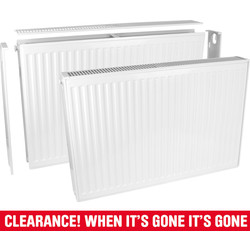 Qual-Rad Type 21 Double-Panel Single Convector Radiator 500 x 1100mm 4196Btu - 83484 - from Toolstation