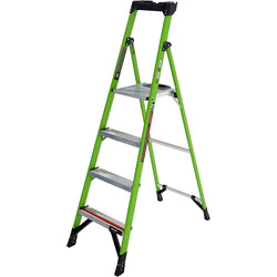 Little Giant Little Giant Mighty Lite Fibreglass Step Ladder 4 Tread SWH 2.73m - 83510 - from Toolstation