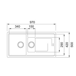 Franke Titan Reversible Composite Kitchen Sink & Drainer