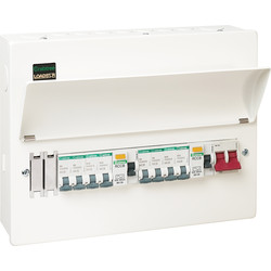 Crabtree Loadstar Crabtree Loadstar Metal Consumer Unit 10 Way + 8 MCBs  - 83535 - from Toolstation