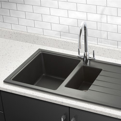 Granite Composite 1.5 Bowl Kitchen Sink & Drainer