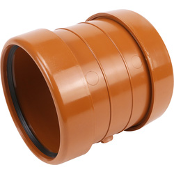 Aquaflow Pipe Coupling Socket 110mm Double - 83548 - from Toolstation