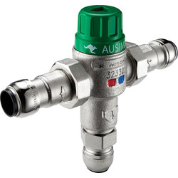 Reliance Valves Reliance AUSIMIX 2in1 Thermostatic Mix Valve 22mm - 83610 - from Toolstation