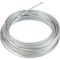 Galvanised Wire Rope 6mm x 10m - 83725 - from Toolstation
