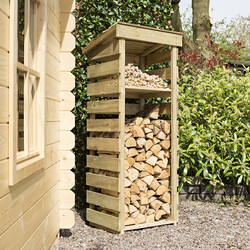 Rowlinson Rowlinson Narrow Log Store 156cm (h) x 62cm (w) x 56cm (d) - 83859 - from Toolstation