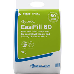 Gyproc Gyproc Easifill 60 Filler 5kg - 83889 - from Toolstation
