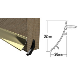 Stormguard Stormguard Rain Deflector Gold 32mm - 83947 - from Toolstation