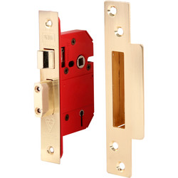 Union BS 5 Lever Mortice Sashlock 64mm Brass - 84065 - from Toolstation