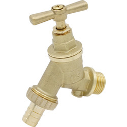 "Made4Trade Made4Trade DZR Hose Union Bib Tap with Double Check Valve 1/2"" DZR - 84080 - from Toolstation"
