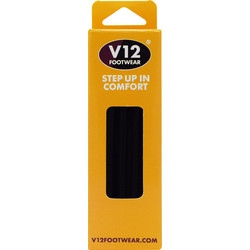 V12 Footwear Black Shoe Laces  - 84105 - from Toolstation