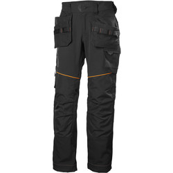 "Helly Hansen Helly Hansen Chelsea Evolution Construction Trousers 34"" R Black - 84115 - from Toolstation"