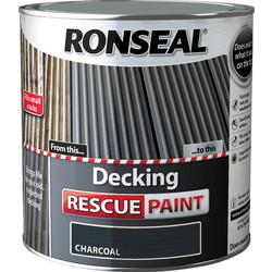 Ronseal Ronseal Decking Rescue Paint 2.5L Charcoal - 84257 - from Toolstation