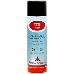 Industrial Spray Paint 500ml Safe Red