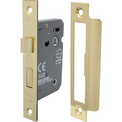 Bathroom Mortice Lock 63mm Electro Brass - 84367 - from Toolstation