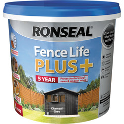 Ronseal Ronseal Fence Life Plus 5L Charcoal Grey - 84400 - from Toolstation