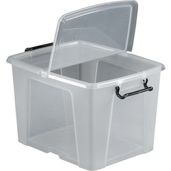 Barton Plastic Container with Hinged Folding Lid 40L - 84406 - from Toolstation