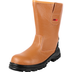 Blackrock Safety Rigger Boots Size 8 Tan - 84493 - from Toolstation