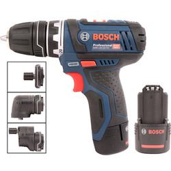 Bosch Bosch GSR 12V-15 FC 12V Li-Ion FlexiClick Drill Driver 2 x 2.0Ah - 84592 - from Toolstation