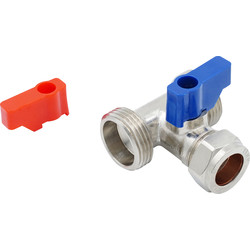 "Made4Trade Made4Trade Dual Appliance Tee Valve 15mm x 3/4"" x 3/4"" - 84595 - from Toolstation"