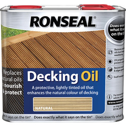 Ronseal Ronseal Decking Oil Natural 2.5L - 84630 - from Toolstation