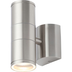 Coast Islay IP44 Marine Grade 316 Stainless Steel Up & Down Wall Light 2 x GU10 Stainless - 84645 - from Toolstation