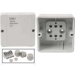 IMO IP66 Junction Box 98 x 98 x 61mm - 84662 - from Toolstation