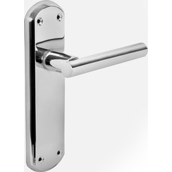 Hafele Imoen Door Handles Latch Polished - 84701 - from Toolstation