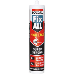 Soudal Soudal Fix All High Tack Polymer Adhesive & Sealant 290ml White - 84704 - from Toolstation