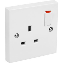 Axiom Switched Socket 1 Gang Double Pole