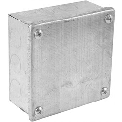 "Metal Box with Knock Outs 4 x 4 x 2"" - 84864 - from Toolstation"