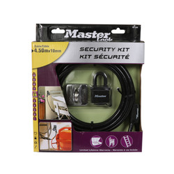 Master Lock Security Weatherproof Padlock and Cable Kit