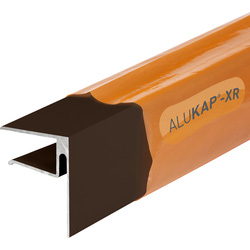 Alukap Alukap-XR Sheet End Stop Bar for Axiome Sheets 16mm x 4.8m Brown - 84921 - from Toolstation