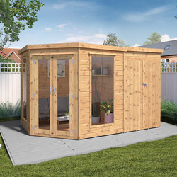 Mercia Mercia Corner Summerhouse With Side Shed 7' x 7' - 84940 - from Toolstation