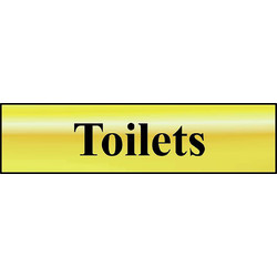 Brass Effect Door Sign Toilets - 84957 - from Toolstation