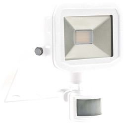 Luceco Luceco LED IP44 PIR Slimline Guardian Floodlight 8W White PIR 600lm - 85003 - from Toolstation