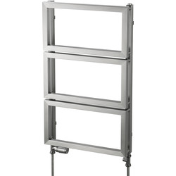 Pitacs Aeon Fatih Designer Towel Warmer 830 x 500mm Btu 1527 Brushed Stainless Steel - 85102 - from Toolstation