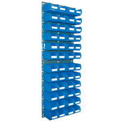 Barton Steel Louvre Panel with Blue Bins