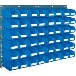 Barton Barton Steel Louvre Panel with Blue Bins 641 x 457mm with TC2 Blue Bins - 85148 - from Toolstation