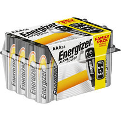 Energizer Energizer Alkaline Power AAA E92 Value home pack 24 AAA - 85173 - from Toolstation