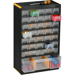 Barton Plastic Small Parts Professional Plus Cabinet 480 x 300 x 165mm - 47 Pieces - 85177 - from Toolstation