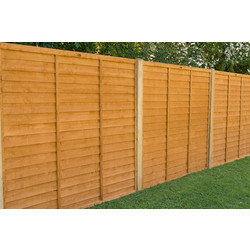Forest Garden Overlap Fence Panel - 5 Pack 152cm(h)x183cm(w)