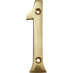 Brass Numeral 75mm 1