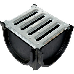 Plastic Corner Unit Black Steel Grating
