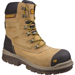 CAT Caterpillar Premier Hi-Leg Safety Boots Honey Size 10 - 85237 - from Toolstation