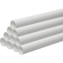Aquaflow Solvent Weld Waste Pipe 30m 50mm x 3m White - 85290 - from Toolstation